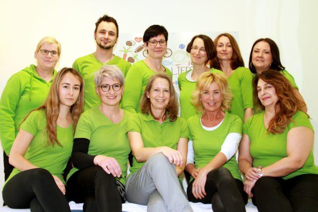 Das Team der Physiopraxis Goldkronach mit Inhaberin Susanne Vogt